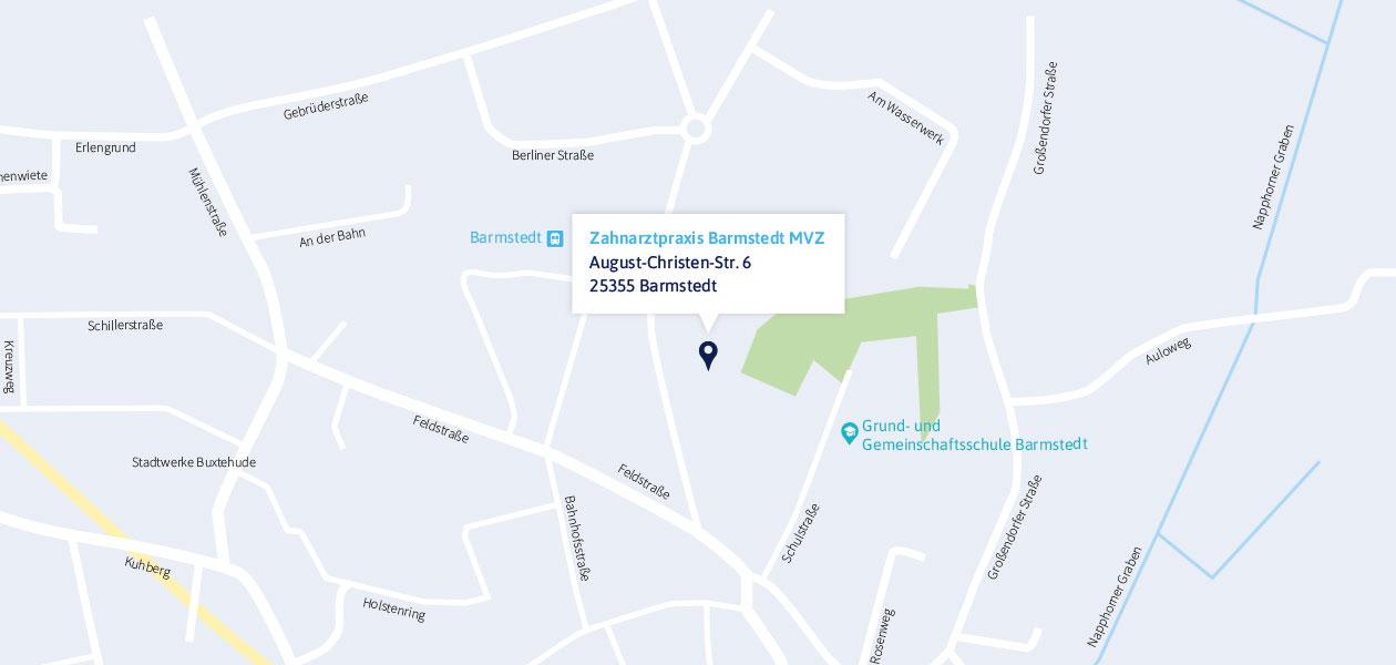 Anfahrt zur Zahnarztpraxis in Barmstedt